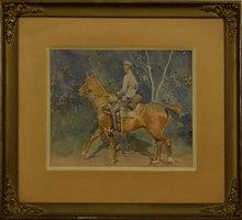 Zygmunt ROZWADOWSKI (1870-1950) - Soldier on horseback