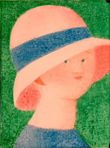 Antonio BUENO - Pintura - Figura con cappello a tesa