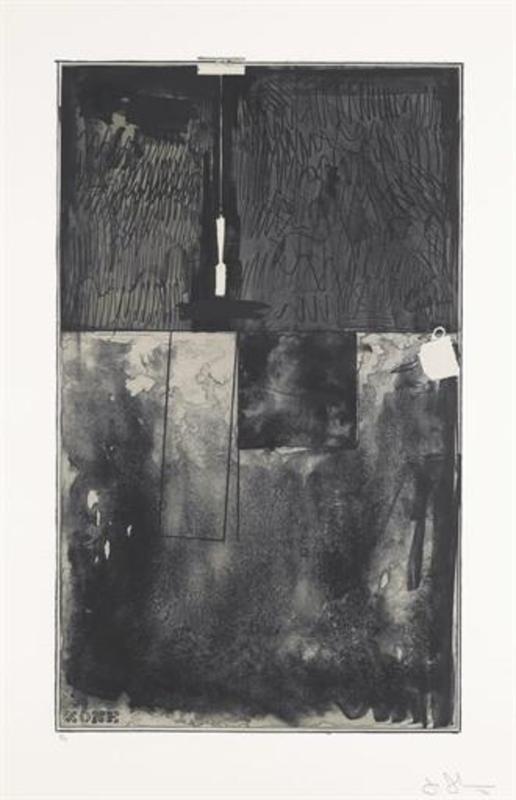 Jasper JOHNS - Print-Multiple - Zone (Black Slate)