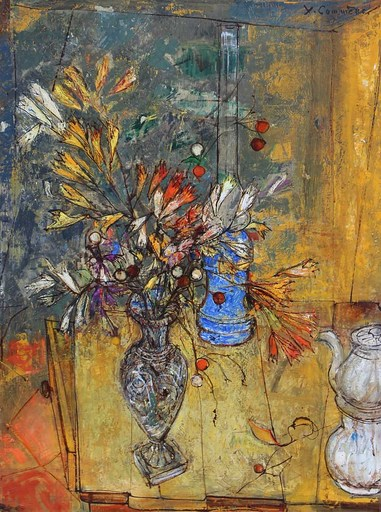 Jean COMMERE - Painting - Bouquet