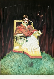 Francis BACON - Grabado - Study for Portrait of Pope Innocent X after Velázquez