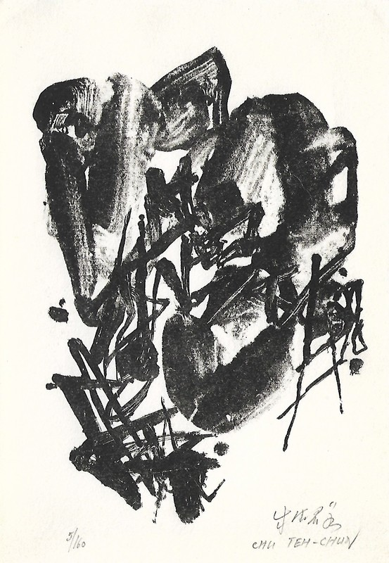 CHU Teh-Chun - Stampa-Multiplo - CARTE  VOEUX