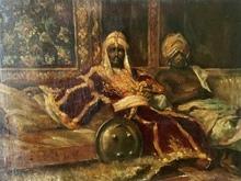 Josep TAPIRO Y BARO - Pintura - Les guerriers à l'Alhambra