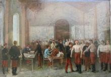Alfred Charley TOUCHEMOLIN - Pintura - Séances de vaccination antivariolique au Val de Grace