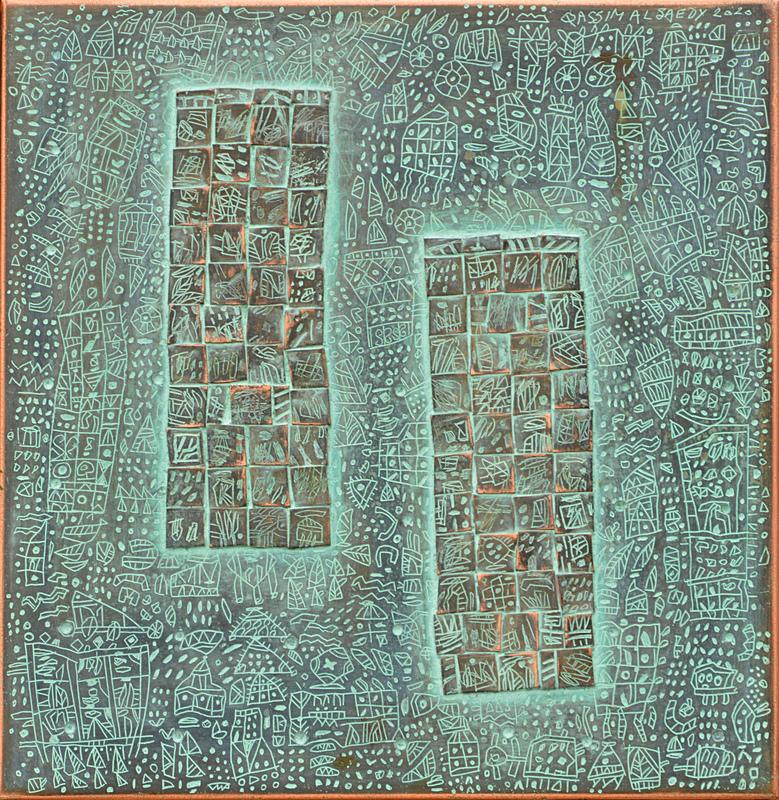 Qassim ALSAEDY - Sculpture-Volume - Two Towers telling Stories