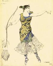 Léon BAKST - Print-Multiple - Pas de Diane. Costume design for A. Pavlova.