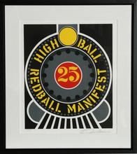 罗伯特•印第安纳 - 版画 - High Ball Redball Manifest