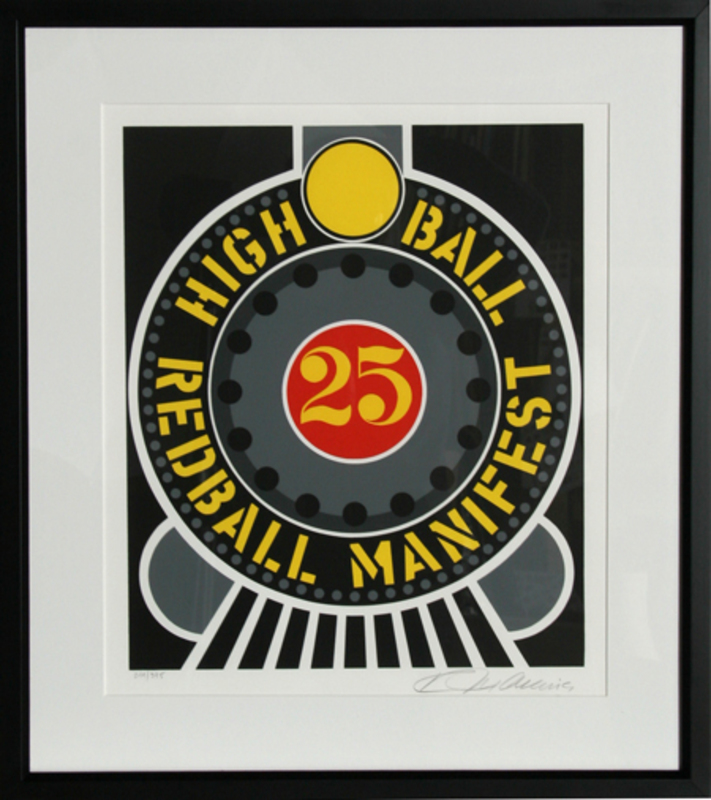 Robert INDIANA - Stampa Multiplo - High Ball Redball Manifest