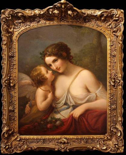 Natale SCHIAVONI - Pintura - Venere e Cupido
