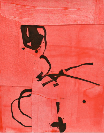 Stephen MAINE - Gemälde - Frankly Scarlet 4 (Abstract painting)