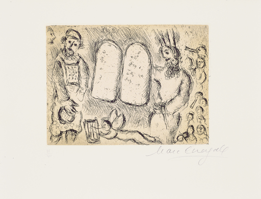 Marc CHAGALL - Druckgrafik-Multiple - Psalm 105