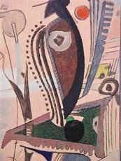 Max ACKERMANN - Peinture - KOMPOSITION - UM 1950