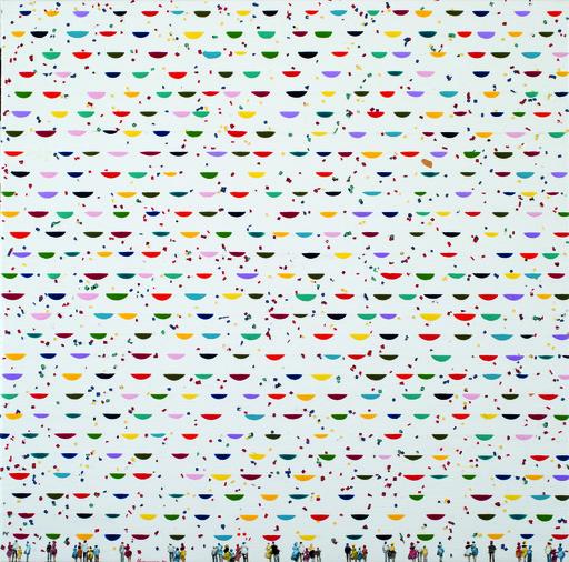 Chaouki CHAMOUN - Gemälde - Flocking in love in blooming skies