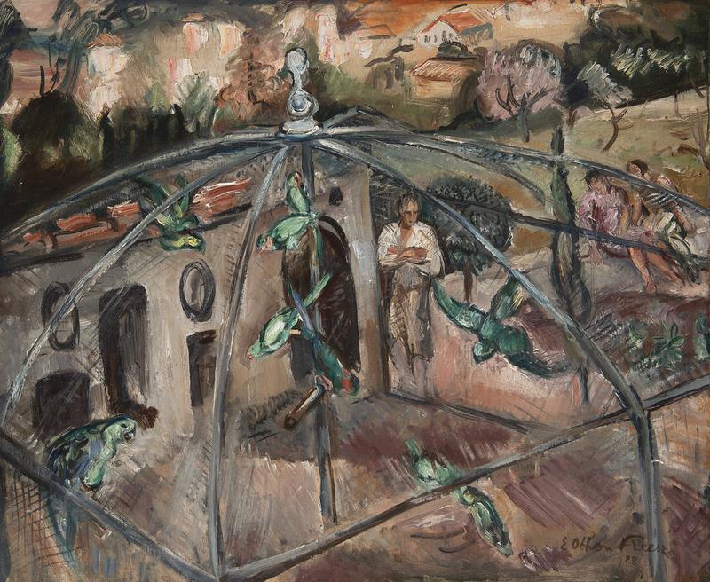 Emile Othon FRIESZ - Peinture - La volière