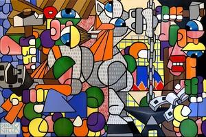 Fabrice ANNEVILLE CONSTANCE - Painting - Le maréchal ferrant