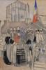 Mathurin MÉHEUT - Drawing-Watercolor - Du pays des Bigoudens, la foire