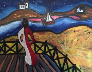 Christian DURIAUD - Pintura - Night in Brittany