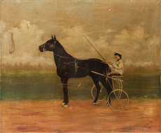Jobst RIEGEL - Painting - The Racer