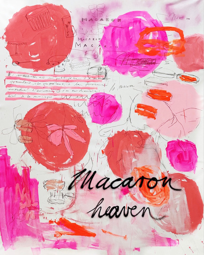 Manuela Karin KNAUT - 绘画 - Macaron Heaven (Abstract painting)