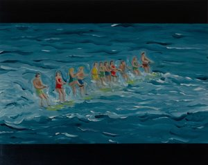 Martin AITKEN - Painting - « Jaws 3 »