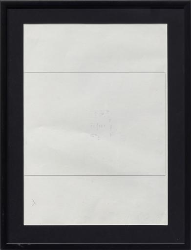 Emilio PRINI - Dibujo Acuarela - Untitled (Formula per tipi standard non standard)