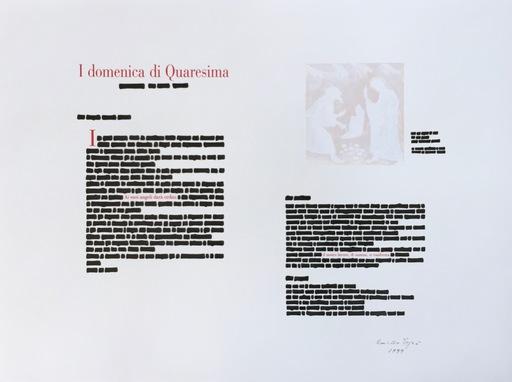 Emilio ISGRO - Dessin-Aquarelle - I domenica di Quaresima