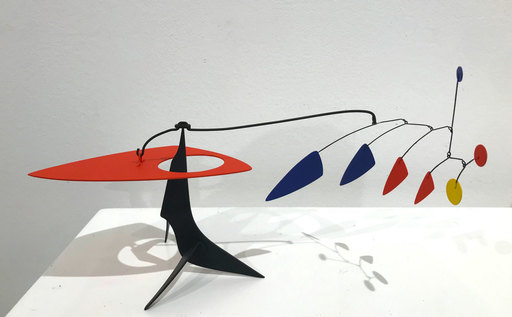 """Manuel MARÍN - Sculpture-Volume - Mini-Stabile """"Red Bird with Colored Feathers"""""""