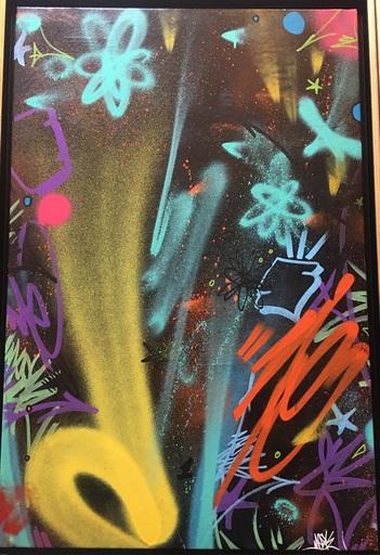 PAPA MESK - Painting - Graffiti extract n•1