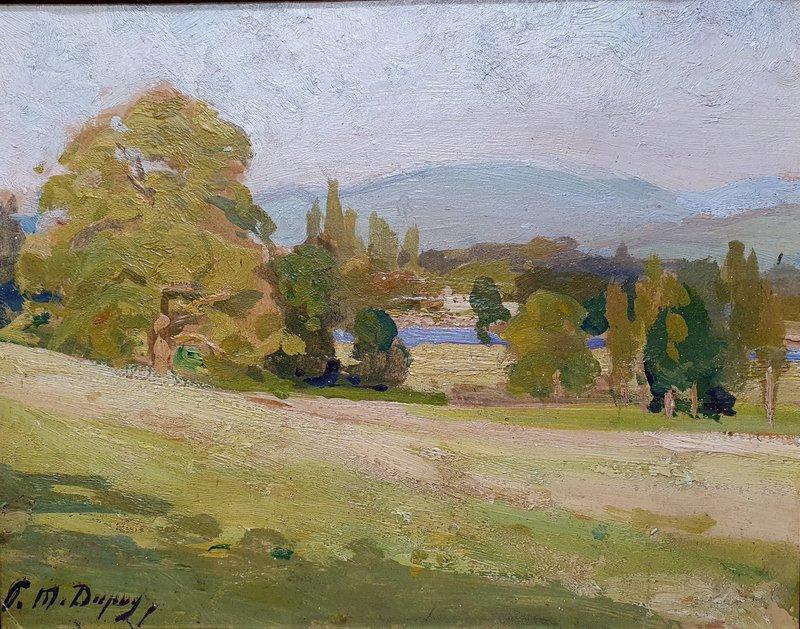 """Paul Michel DUPUY - Painting - """"PAYSAGE A LA RIVIERE DANS LES PYRENEES"""""""