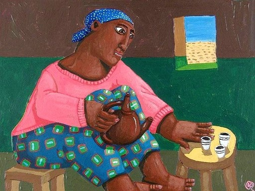 Valérie BLANCHARD - Pintura - La cérémonie du café