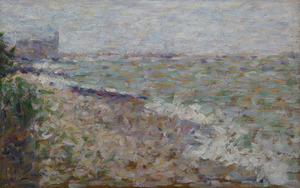 Georges SEURAT - Pintura - Le mouillage à Grandcamp