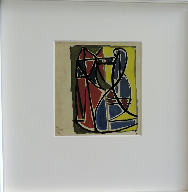 """Aurélie NEMOURS - Drawing-Watercolor - Archaïque """"Re Arch 3"""""""