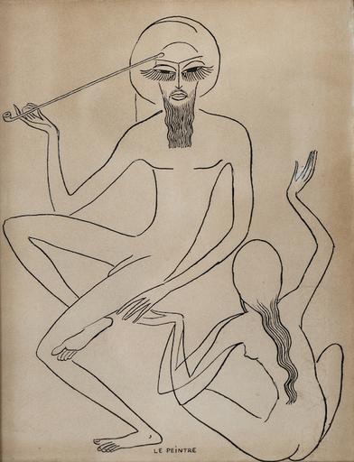 """Kees VAN DONGEN - Zeichnung Aquarell - Etude pour """"Les Mille et une nuits"""""""