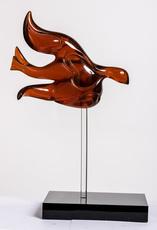 """NOUNA - Sculpture-Volume - """"L'envol"""" oiseau parme"""