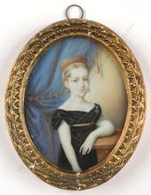 "Johann Erdmann HUMMEL - Miniatura - ""Archduchess Maria Carolina Ferdinanda"", rare miniature!"