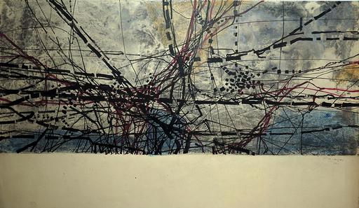 Juan VILACASAS - Zeichnung Aquarell - Sin titulo. Planimetria. Paris