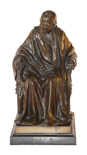 Jean Antoine HOUDON - Skulptur Volumen - Voltaire assis