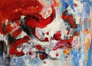Edith LIÉTAR - Pintura - Eruption