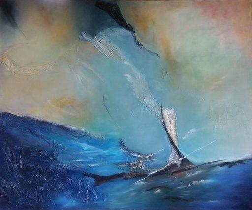 Fabienne RIBEYROLLES - Peinture - Bleu Outremer