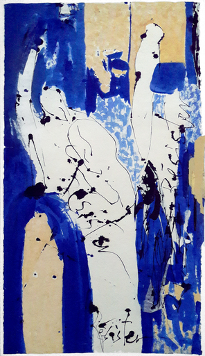 Judith WOLFE - Drawing-Watercolor - Résister Blues III