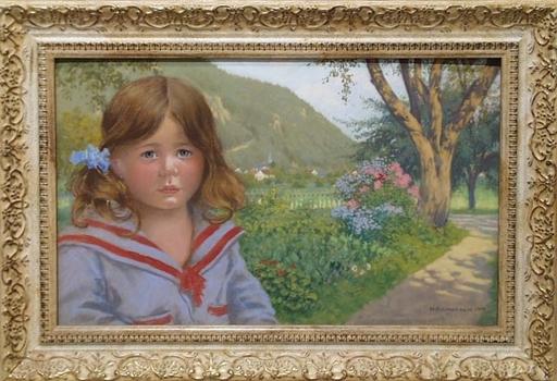 "Maximilian SPILHACZEK - Pittura - ""Artist's Daughter"" by Max Spilhaczek"