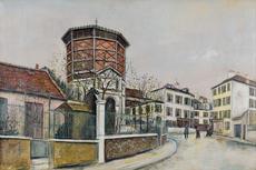 Maurice UTRILLO - Pintura - Place Jean-Baptise-Clément