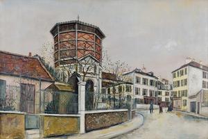 莫里斯•郁特里罗 - 绘画 - Place Jean-Baptiste-Clément