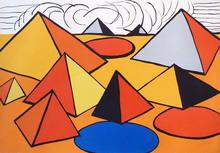 Alexander CALDER - Estampe-Multiple - Les pyramides