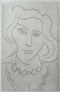 Henri MATISSE, Face of a Young Woman with a Twisted Necklace