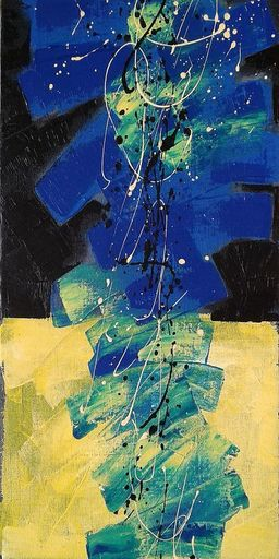 Marie Edmée SEGUIN - Painting - La Nuit des temps N52
