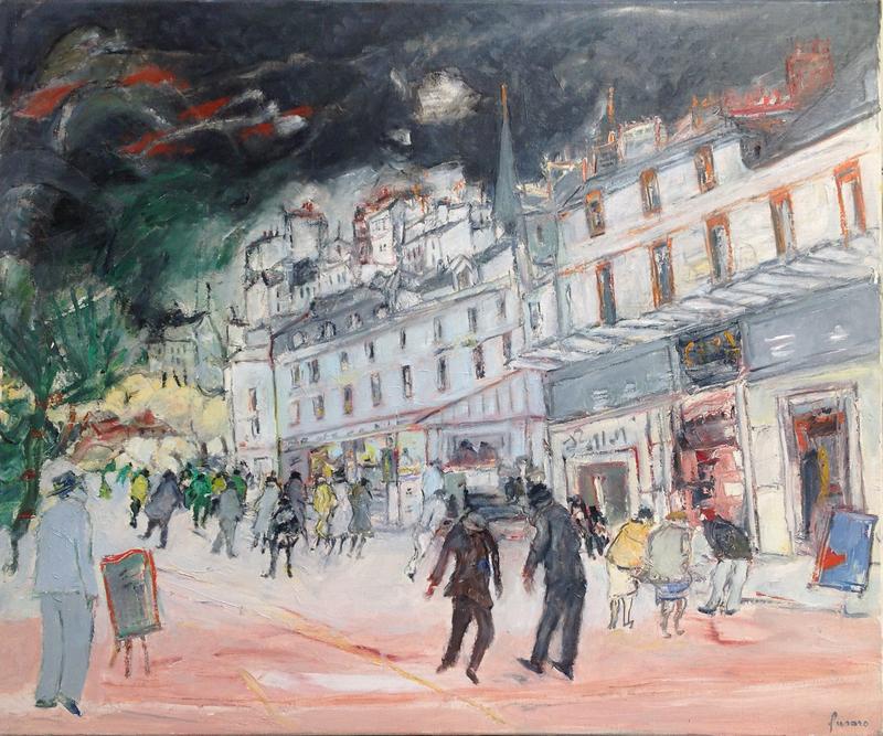 Jean FUSARO - Pintura - Boulevard de Paris