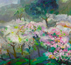 ZHENG Judy C. - Gemälde - The Peach Blossom Season