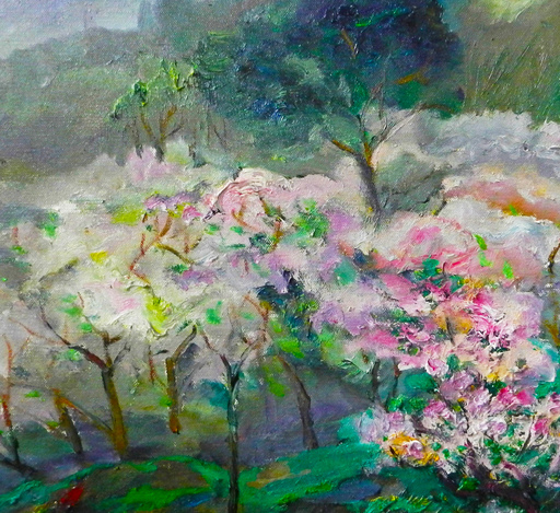 ZHENG Judy C. - Gemälde - The Peach Blossom Season