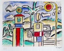 Fernand LÉGER (1881-1955) - Le poste dEssence, Etude pour la Ville